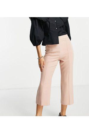 Miss Selfridge Mujer Pantalones acampanados - Pantalones de sastre color de campana de Petite-Beis neutro