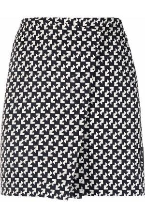 OFF-WHITE Mujer Estampadas - Falda cruzada con estampado abstracto