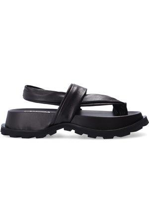 Jil Sander Leather platform sandals , Mujer, Talla: 38