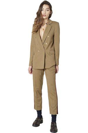Silvian Heach Pantaloni con banda laterale , Mujer, Talla: 48