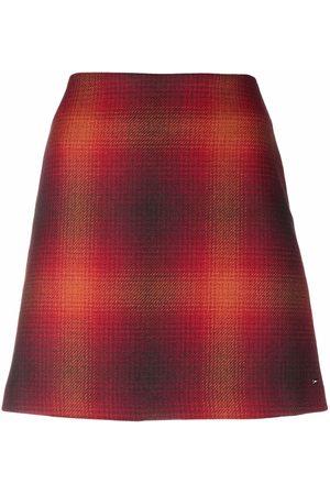 Tommy Hilfiger Check-print wool skirt