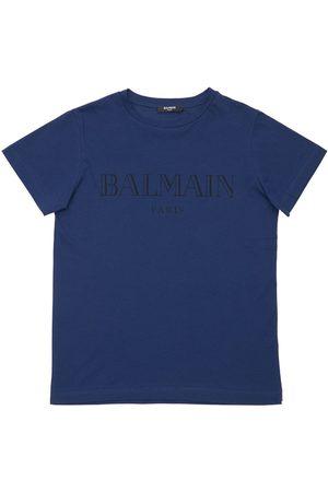 Balmain | Niña Camiseta De Algodón Jersey Estampada 8a