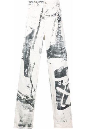 OFF-WHITE Pantalones anchos con estampado gráfico