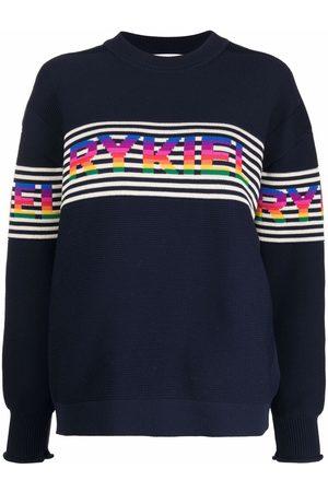 Sonia by Sonia Rykiel Striped logo-knit jumper