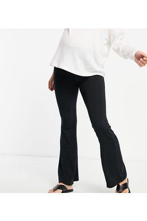 Topshop Pantalones negros de campana de Maternity