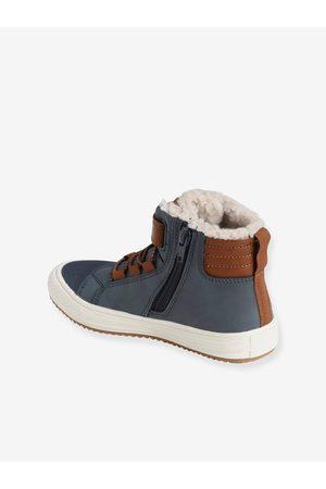 VERTBAUDET Niño Zapatillas deportivas - Zapatillas Mid con forro, para niño oscuro liso