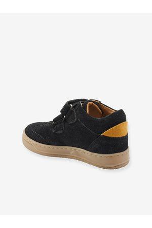 Vertbaudet Zapatillas Mid para niño, especial autonomía oscuro liso