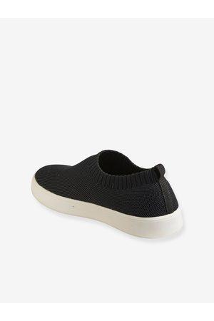 Vertbaudet Zapatillas slip-on ecológicas, para niña oscuro liso