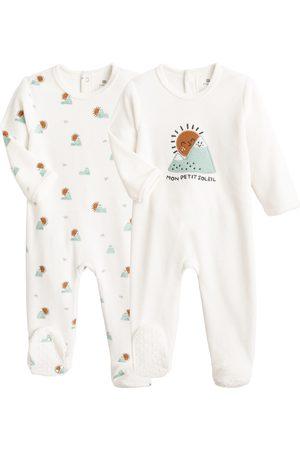 La Redoute Bebé Bodies bebé - Lote de 2 pijamas de terciopelo de algodón orgánico 0 meses-3 años
