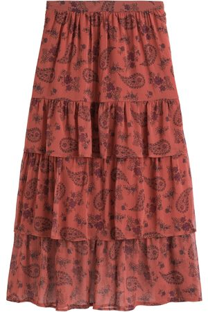 La Redoute Mujer Largas - Falda larga con volantes