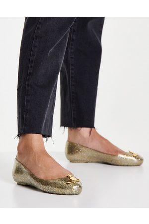 Vivienne Westwood Zapatos dorados con purpurina de goma de