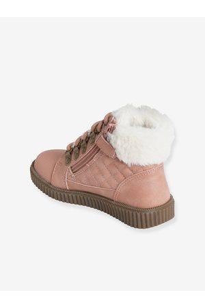 Vertbaudet Niña Zapatillas deportivas - Zapatillas de caña alta con forro, para niña medio metalizado