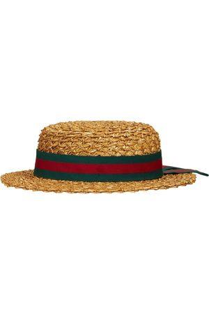 Gucci Niña Sombreros -   Niña Sombrero Darla De Paja S