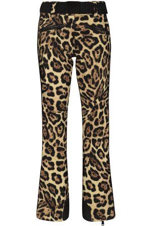 Goldbergh Mujer Trajes de esquí - Pantalones de esquí Jacguar con estampado de leopardo
