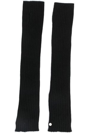 Rick Owens Hombre Guantes - Ribbed arm warmers