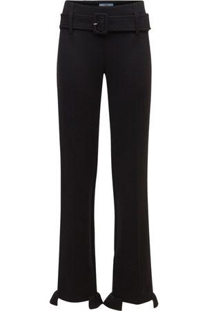 Prada Mujer Pantalones y Leggings - | Mujer Pantalones De Jersey Con Volantes Y Cinturón 36
